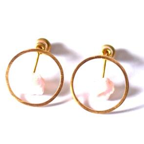 Candy Gem earrings gold green