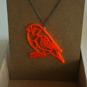 ketting orange birdie*