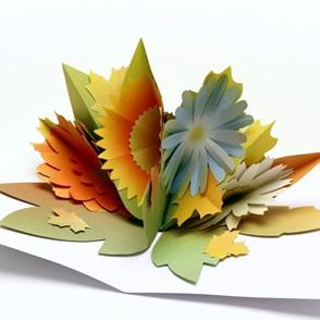 Paper flowers Herfst*