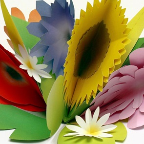 Paper flowers Zomer*