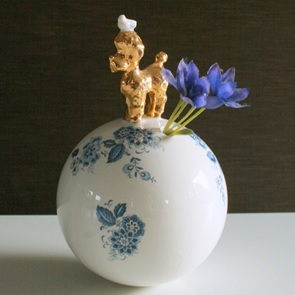 Poodle vase big