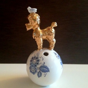 Poodle vase small