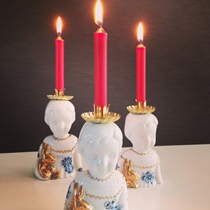 Half Doll with as candleholder