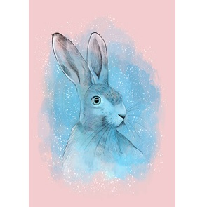 Art-print Magical Rabbit
