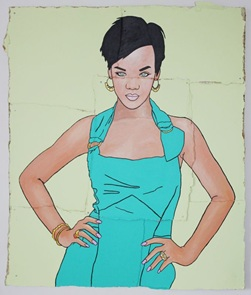 Kunstwerk Rihanna