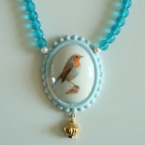 Ketting roodborst blauw