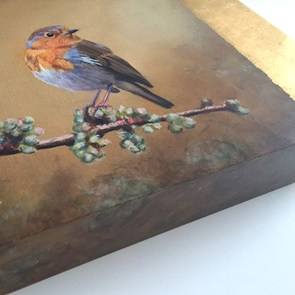 Painting Robin gold