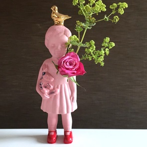 Pink doll gold dove