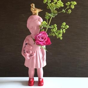Roze popje goud duif