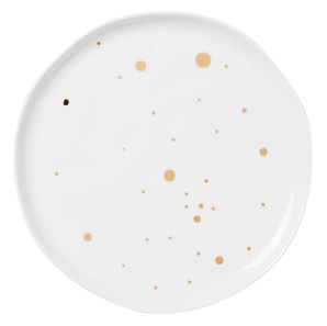 Dish golden dots