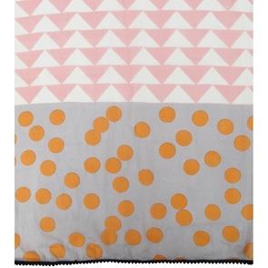 Pink orange dots shawl*