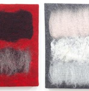 Textiel kunstwerk 5 Nieuw