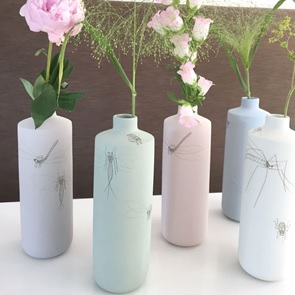 Vase caraf Insect green
