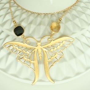 Vlinder Aurelia ketting