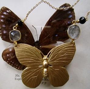 Vlinder Icarus ketting