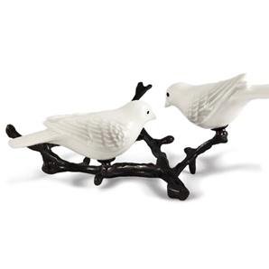 2 Witte vogels op tak