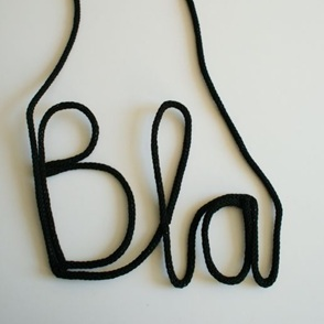 Muur woordketting BLA