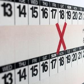 Year Round tape calendar