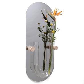 You-tube mirror wallvase Silvergrey