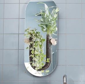 You-tube mirror wallvase Clear