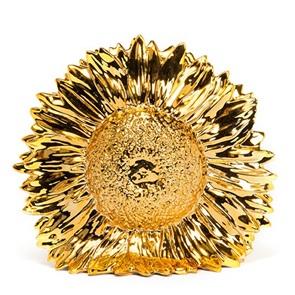 Zonnebloem vaas goud