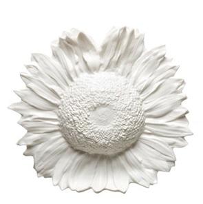 Sunflower vase white