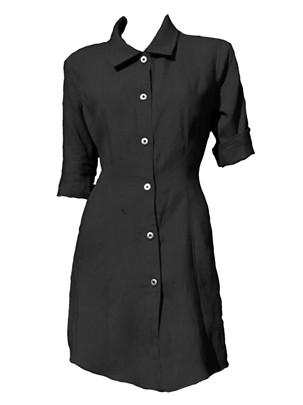 Lange linnen blouse-jurk