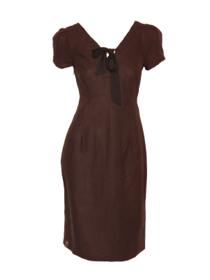 linnen jurk met strik
