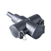 Volrubber driewegkoppelcontactstop 16A,250V