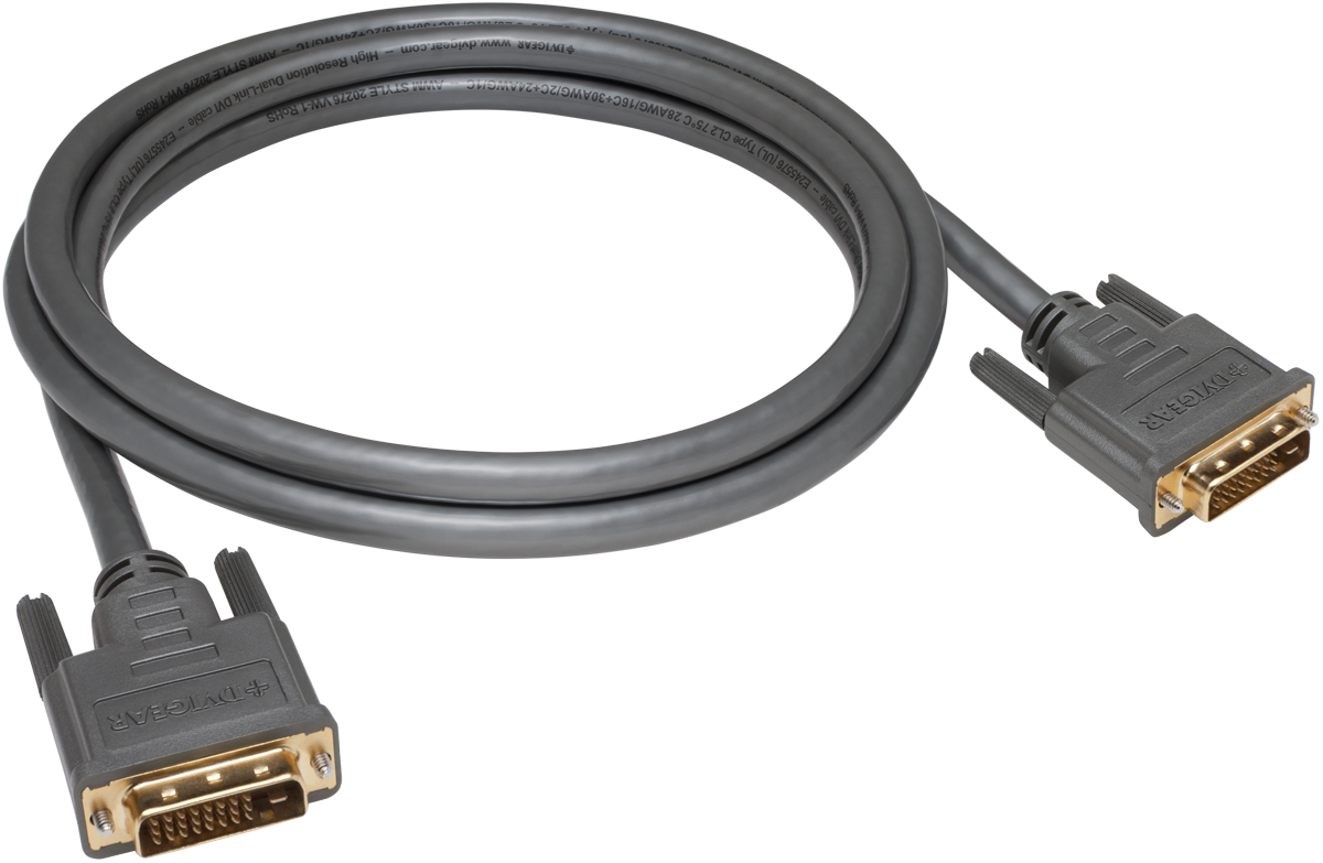 Standard Resolution (SRD™) Dual-Link DVI Copper Cables . DVI-23004-SRD  Cable Dual-Link DVI-D SRD 28AWG, 0.4 meter  (1.3 ft.)