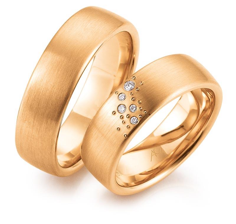 rose gouden trouwringen