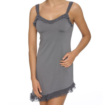 Siesta Spaghetti Chemise Chiffon Steel Grey
