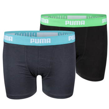 Puma Jongens Boxershort 2-Pack Groen/Blauw Groen/Blauw