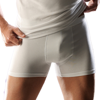 Heren boxer short kort model Wit