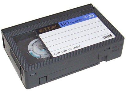 VHS-Compactband scannen en op DVD zetten.