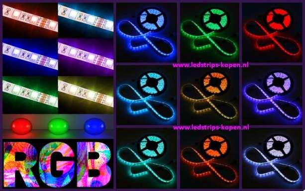 Rgb Led Strip Badkamer ~ IP67 RGB ledstrip  SMD5050  30 LED mtr  Waterproof