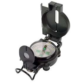 Kompas met vergrootglas