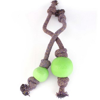 BECO BALL WITH ROPE SMALL GREEN