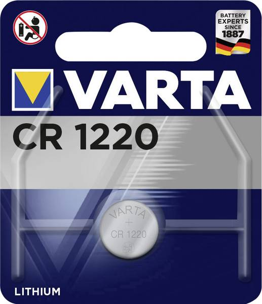 Varta lithium knoopcel batterij CR1220 3V
