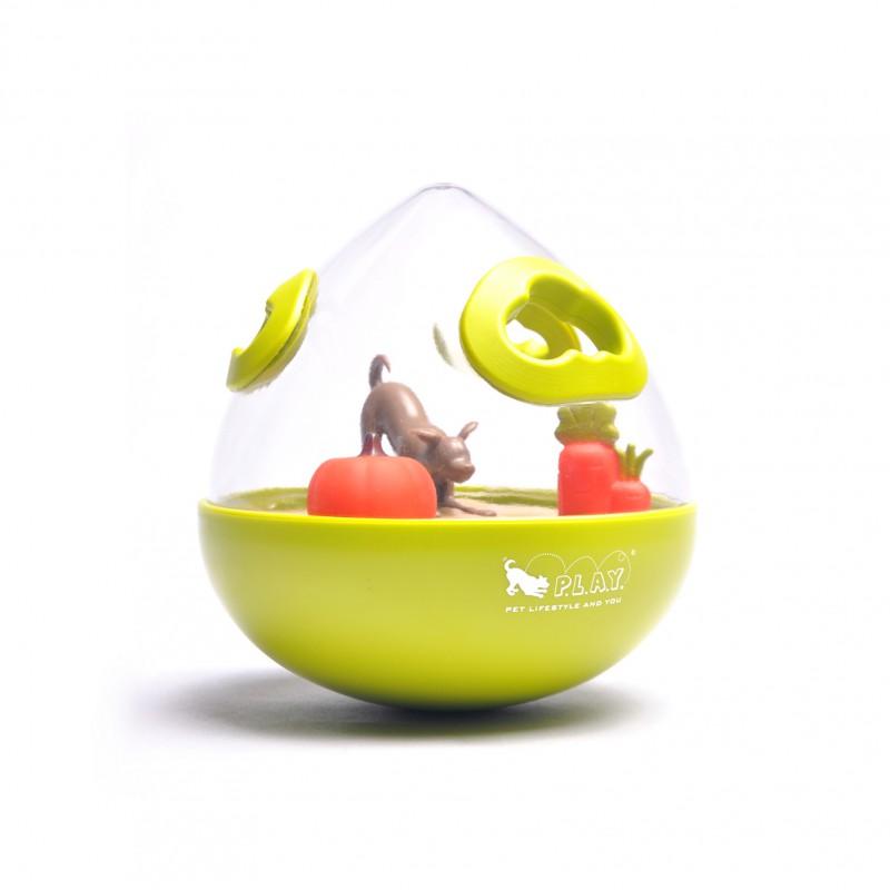 P.L.A.Y. Wobble Ball Enrichment Treat Toy - Green