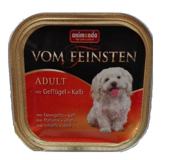 FEINSTEN DOG ADULT GEV+KALF 150 GR.