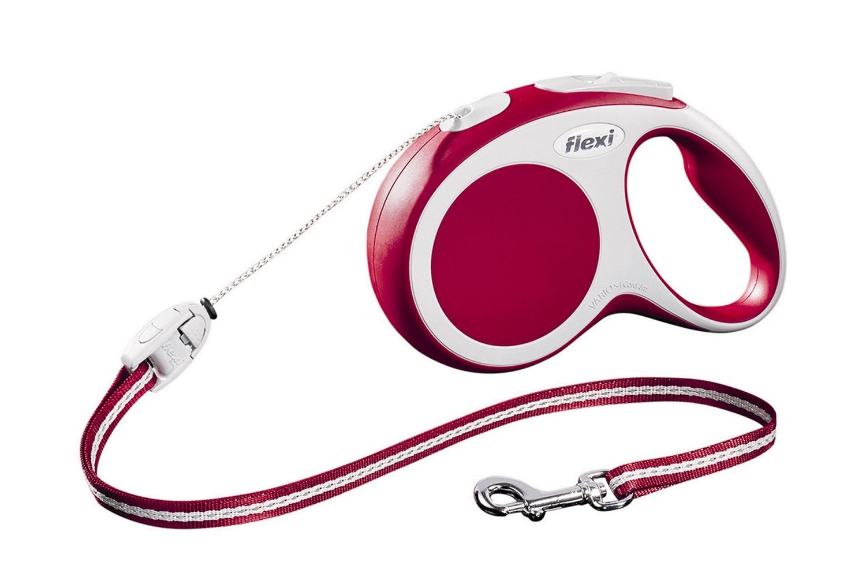 Flexi vario S met koord - 8 meter rood
