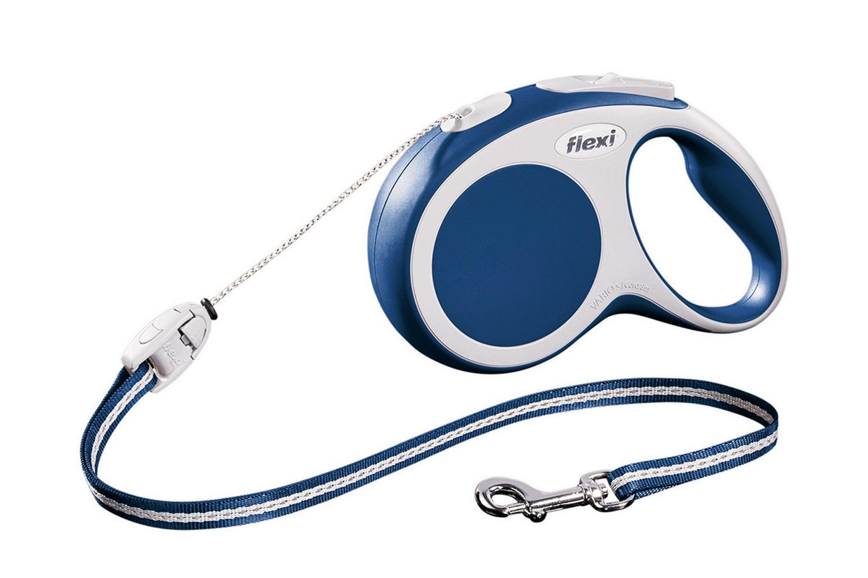 Flexi vario S met koord - 8 meter blauw