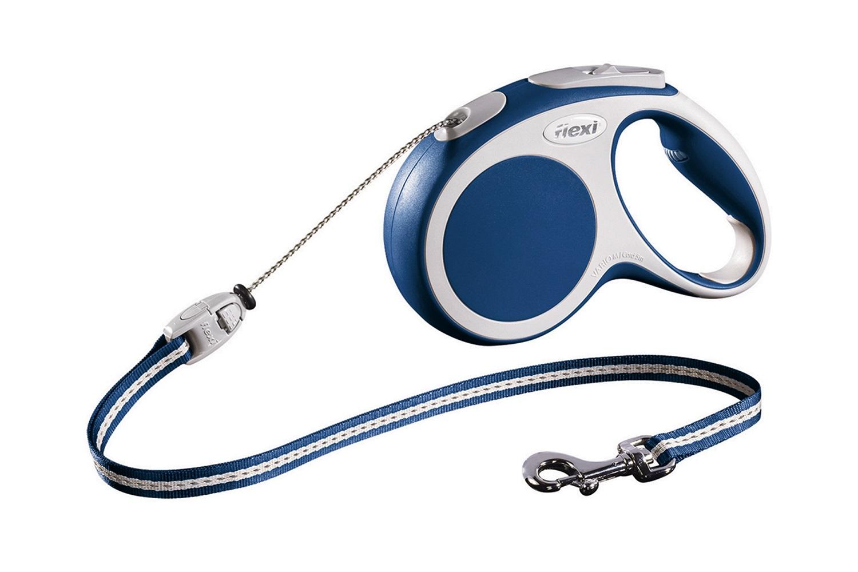 Flexi vario M met koord - 5 meter blauw (VERVALLEN)