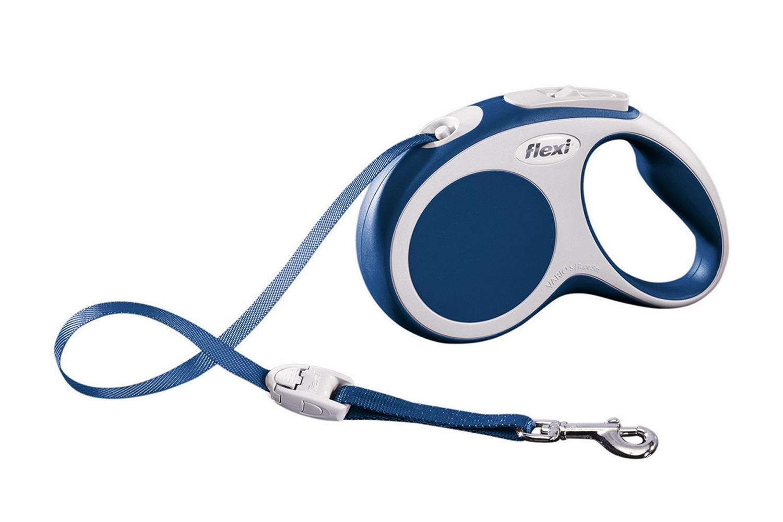 Flexi vario S met band - 5 meter blauw (VERVALLEN)