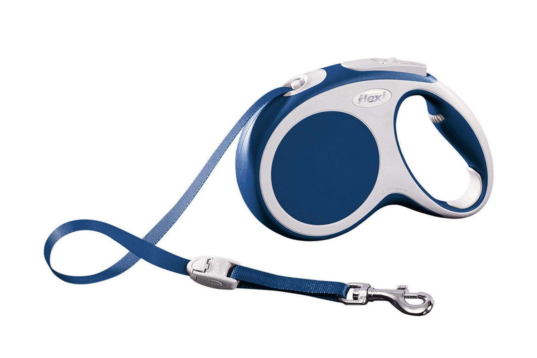 Flexi vario M met band - 5 meter blauw (VERVALLEN)