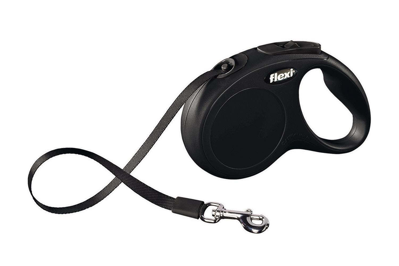 Flexi new classic M/L met band - 5 meter zwart