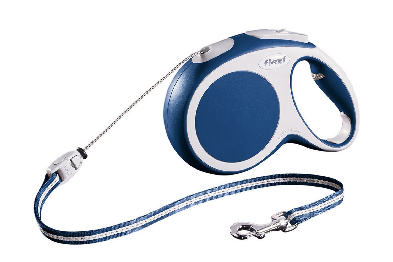 Flexi vario M met koord - 8 meter blauw