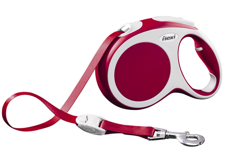 Flexi vario L met band - 5 meter rood (VERVALLEN)
