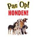 PG waakbord pas op Honden